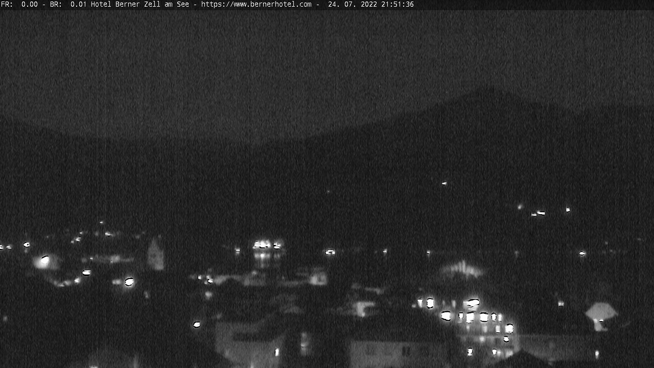Zell am See webcam - panorama from hotel Berner
