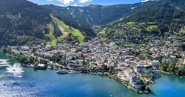 The town of Zell am See in the Zell am See-Kaprun region